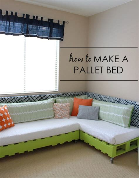 how to build a pallet bed diy kid s pallet bed