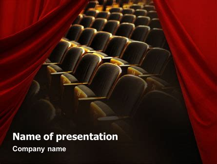 Cinema Hall Presentation Template For Powerpoint And Keynote Ppt Star Microsoft Powerpoint Templates Theatre