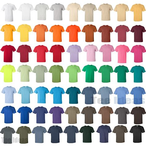 gildan t shirt color chart gildan mens ultra cotton t shirt 100 cotton s m l