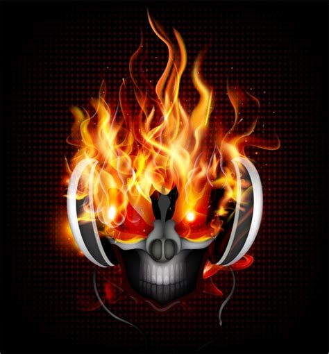 dj fire dj fire skull free vector in adobe illustrator ai ai