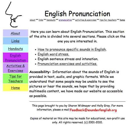 Esl English Pronunciation | kutztown university language resource center licensed for