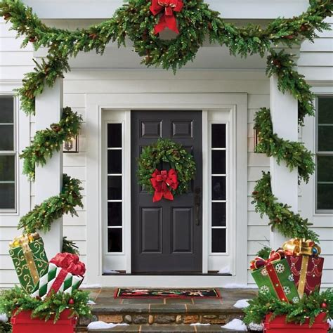christmas porch front door decorating ideas