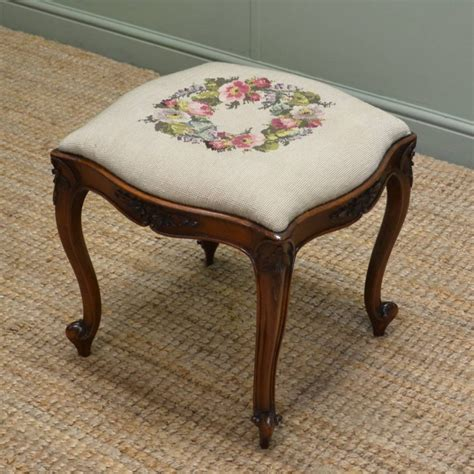 decorative stools and benches victorian walnut decorative antique stool 261242