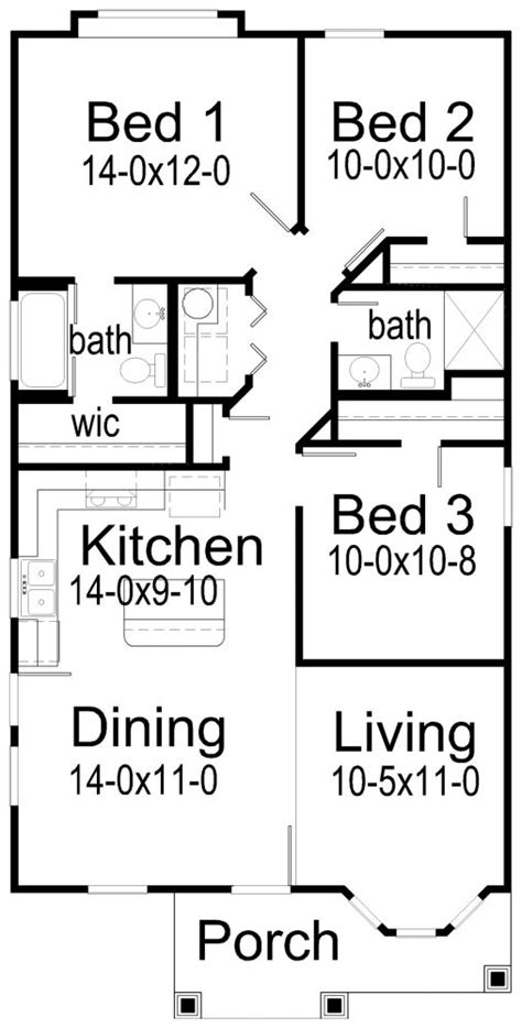 3 bedroom hall kitchen house plans 25 best ideas about 3 bedroom house on pinterest the