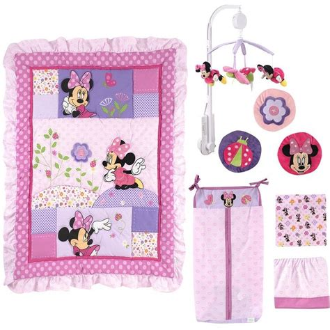 Baby Minnie Mouse Crib Set Minnie Mouse Crib Bedding Minnie Mouse Butterfly Dreams Crib Bedding Set Disney Baby Car