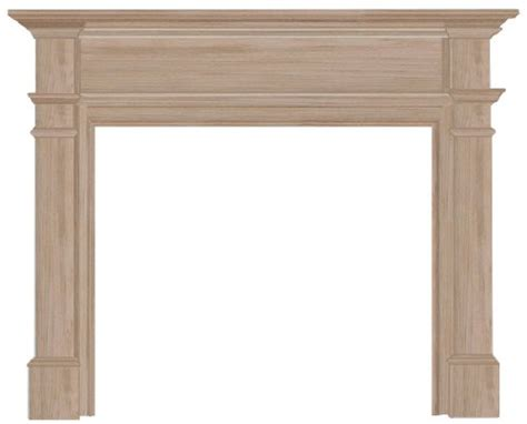 Unfinished Wood Fireplace Mantels by Pearl Mantels 120 Unfinished Fireplace Mantel Surround