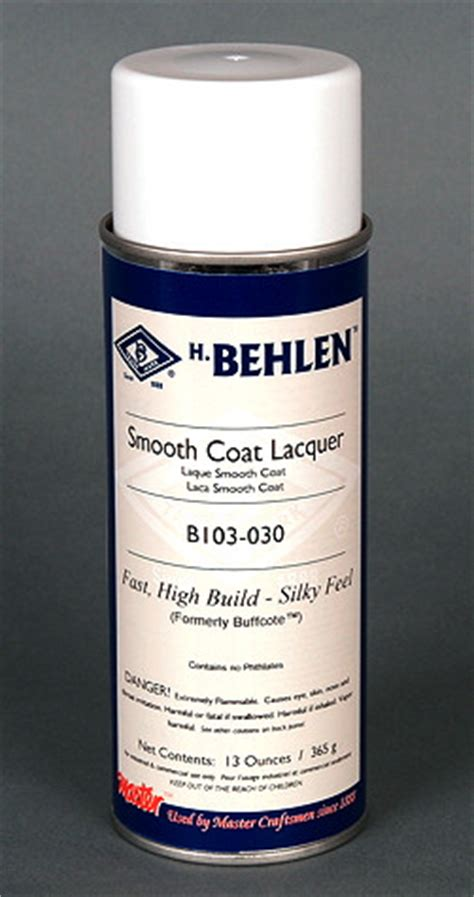 Smooth Coat Lacquer Application Information