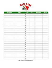 Free Printable Christmas Gift List Template Printable Christmas Gift List