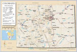 Colorado Reference Map Of Colorado Usa Nations Online Project