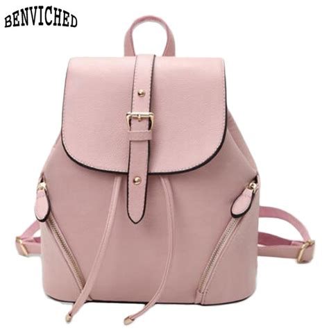 Backpack Set 4in1 Fashion Bags aliexpress buy casual leather s backpack fashion schoolbag backpacks