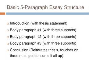 5 Paragraph Structure Essay by Basic Five Paragraph Essay 6 14