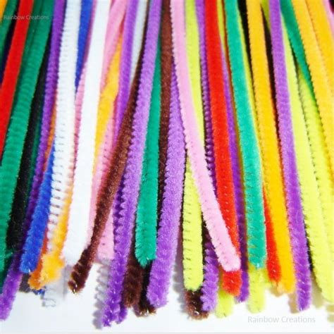 crafts with pipe cleaners assorted coloured pipe cleaners children s craft supplies