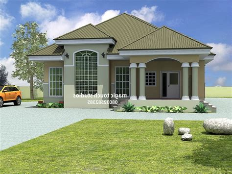 bungalow bedroom nigeria house plans modern house