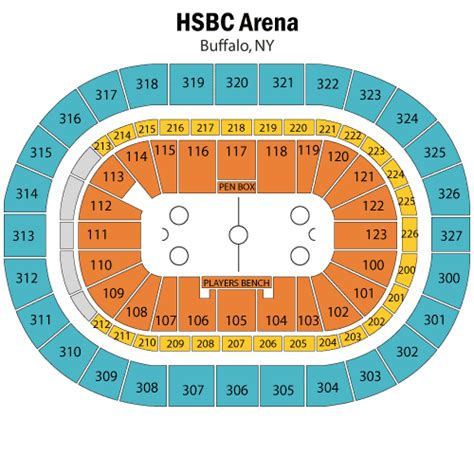 niagara center seating chart concerts buffalo sabres april 13 tickets buffalo niagara