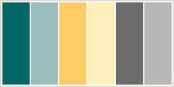 color combinations with grey colorcombo207 with hex colors 006666 9dbcbc ffcc66