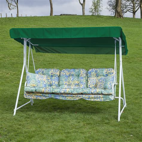 cushions for patio swing garden patio 3 seater white swing seat hammock with