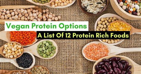 protein rich foods vegan protein options a list of 12 protein rich foods