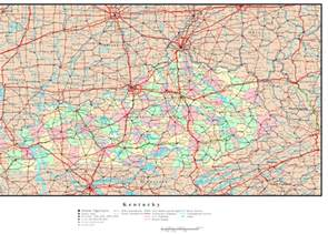 State Of Kentucky Map by Kentucky Political Map