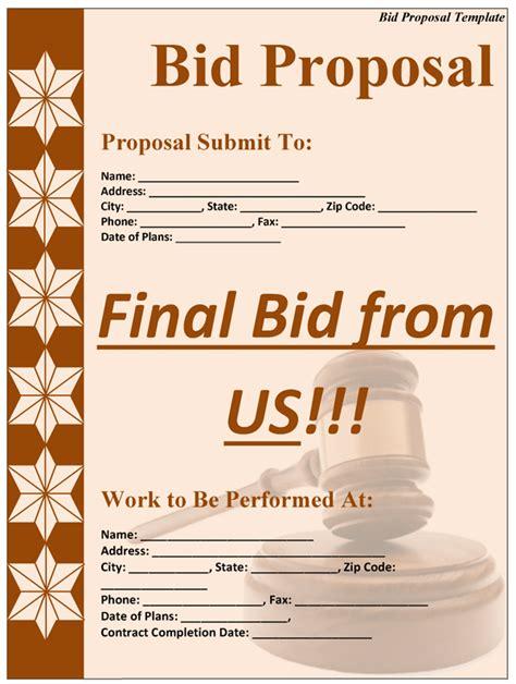 bid free bid template