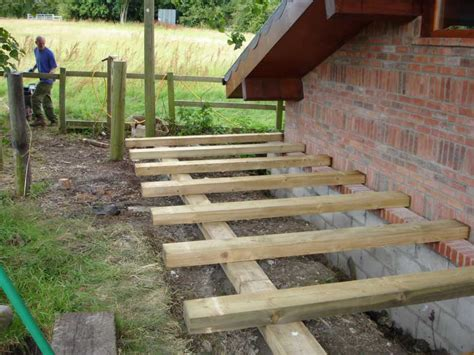 New Sleepers Kilgraney S Raised Deck And Steps Project With Railway