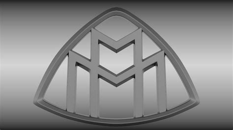 maybach logo  model obj blend cgtradercom