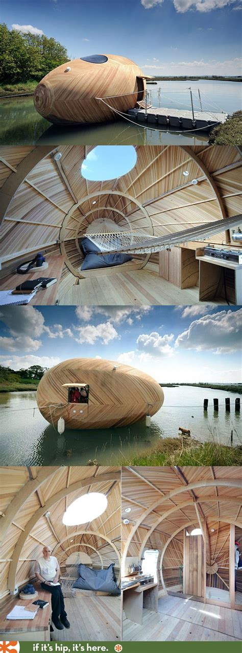 floating egg boat the exbury egg is a floating wooden sustainable energy