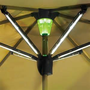 Solar Patio Umbrella Lights Solar Powered Lighted Patio Umbrella The Green