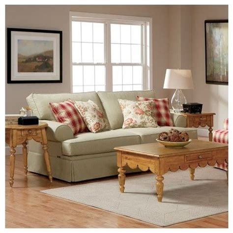 Cottage Sectional Sofa by Broyhill Emily Cottage Sofa In Celedon 6262 3q