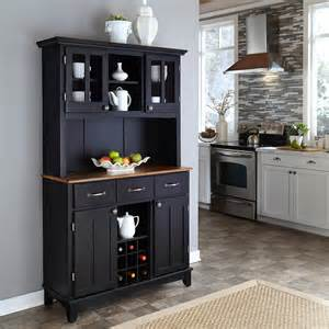 Bakers Rack With Cabinet Home Styles Large Wood Bakers Rack With Two Door Hutch