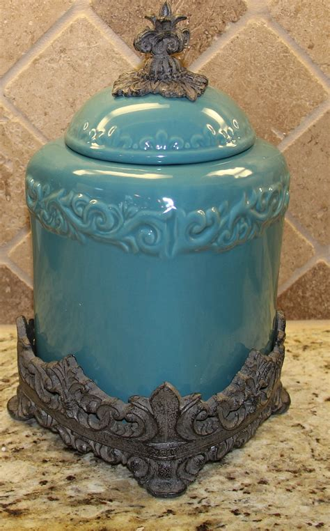drake kitchen canisters tuscan drake design medium 12 quot turquoise canister with