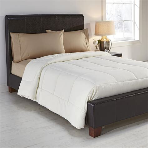 plush comforters colormate ivory ultra plush comforter home bed bath