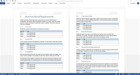Functional Requirements Document Template functional requirements template