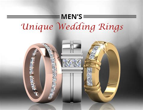 unique mens wedding bands collection fascinating