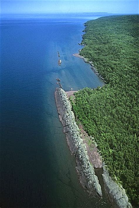 airphoto aerial photograph of copper harbor, keweenaw