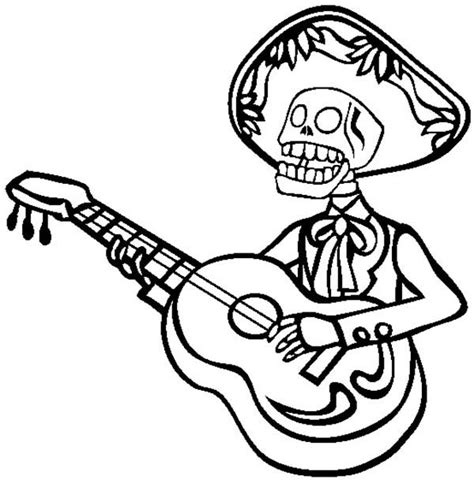 mariachi guitar coloring page mariachi colouring pages