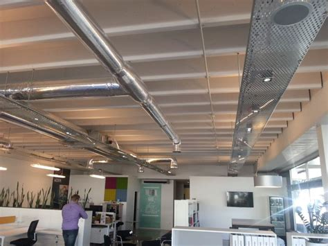 Ceiling Cable Tray exposed ducting and cable trays office space cable tray cable and trays