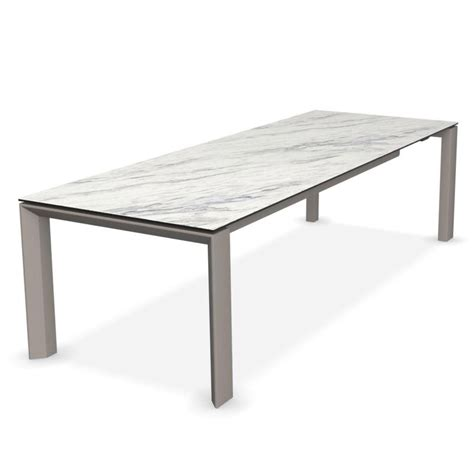 Marble And Glass Dining Table Calligaris Omnia Glass Extending Dining Table White Marble Top