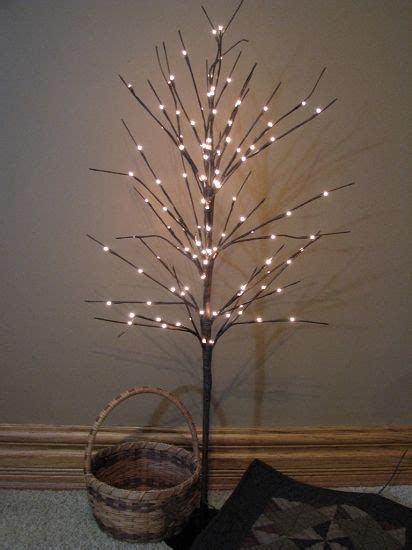 twig light fall decorations pinterest