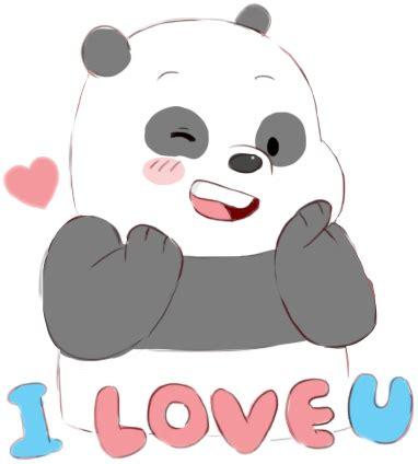 escandalosos cute panda panpan love freetoedit...