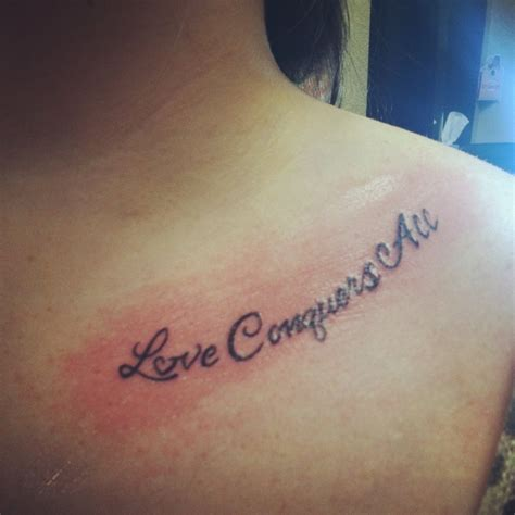 love conquers all tattoo conquers all freshink loveconquersall