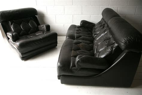 Tetrad Leather Sofa 1970s Brown Leather Sofa Chairs By Tetrad Uk And Chrome
