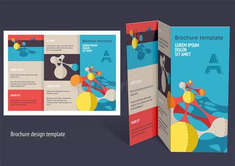 Brochure Booklet Z Fold Layout Editable Design Template Stock Vector Illustration Of Frame Free Booklet Design Templates