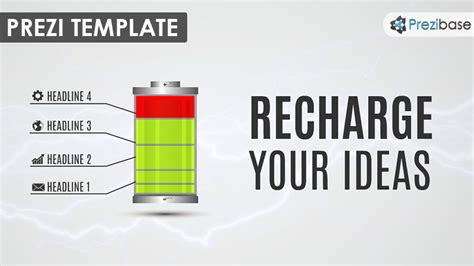 Recharge Your Ideas Prezi Template Prezibase Prezi Template Ideas