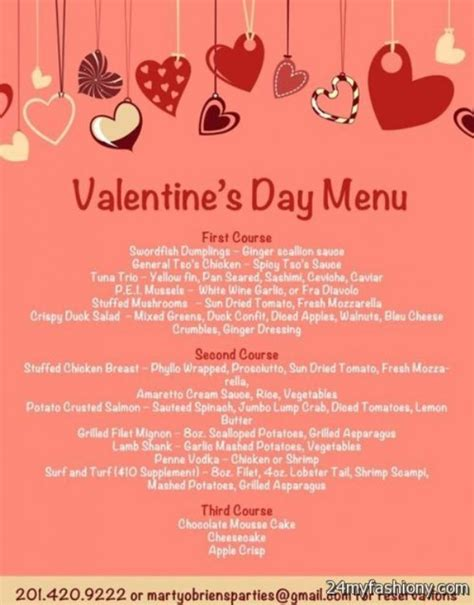 day menu valentines day menu images 2016 2017 b2b fashion