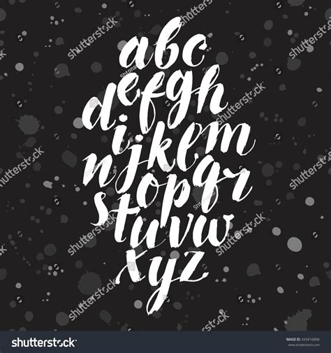 calligraphy font design hand drawn brush calligraphy vector abc stock vector