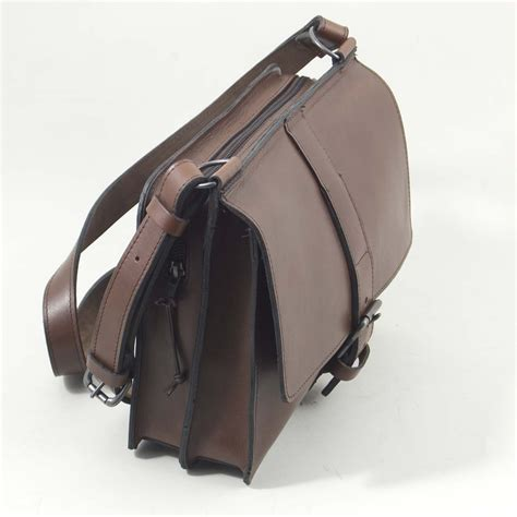 Handmade Leather Bag Uk - the notebook bag henry tomkins