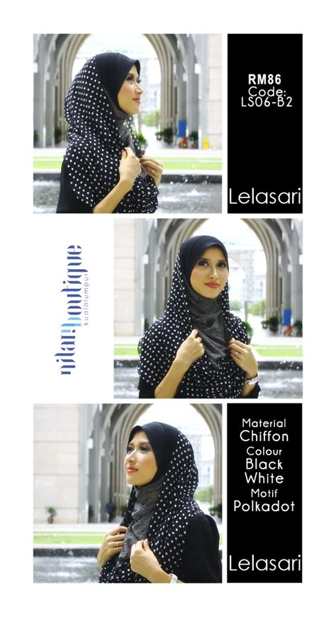 Nilam Scraf 29 lelasari instant shawl easy to wear can be worn with