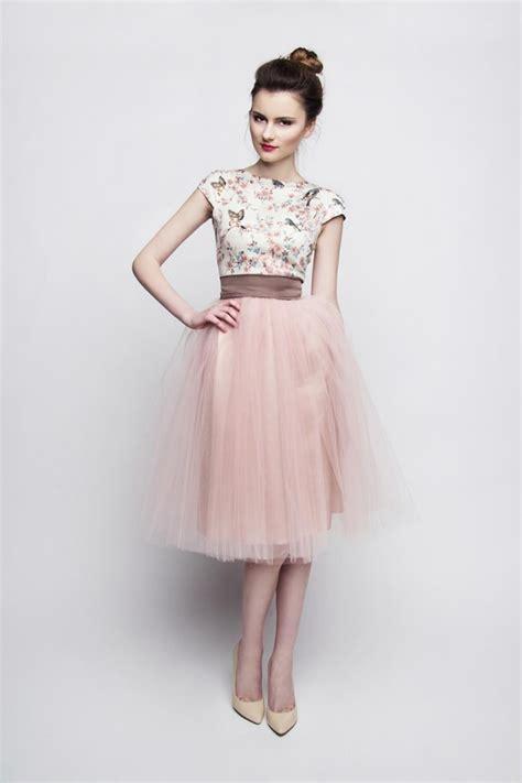 Kleid Standesamt by Standesamt Kleid Rosa Braun Kurz Mit T 252 Llrock Kleiderfreuden