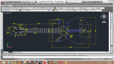 solidworks tutorial how to make guitar guitar in 2d autocad other 3d cad model grabcad