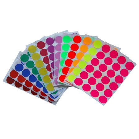 colored labels colored labels 1 quot inch in 13 assorted colors sticker